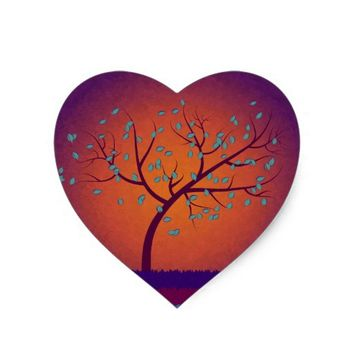 Tree of Life Heart Sticker