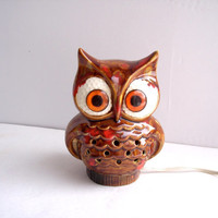 Vintage Wise Owl Night Light