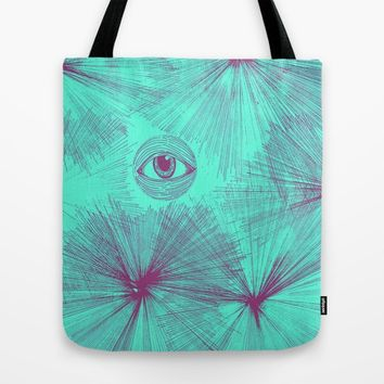 Uncommon Knowledge - Teal Tote Bag by Ducky B