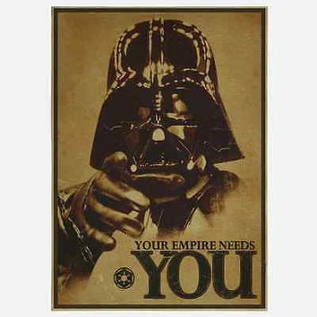 "Star Wars Vintage Style Retro Paper Poster 16.5*11.8 ""YOUR EMPIRE NEEDS YOU"""