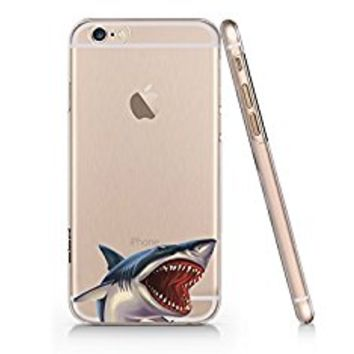 Shark Cool Slim Iphone 6 6s Case, Clear Iphone Hard Cover Case For Apple Iphone 6 6s Emerishop (VAE274.6sl)