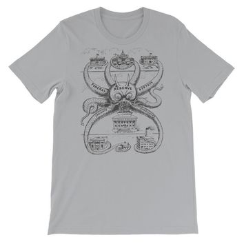 Federal Reserve Octopus Vintage Short-Sleeve Graphic T-Shirt