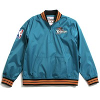 Detroit Pistons 1/4 Zip Nylon Pullover Jacket Teal