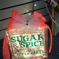 Sugar and spice and everything nice piggy bank or night light