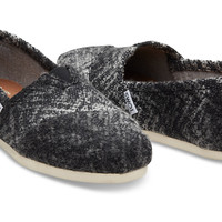 GREY AND BLACK TEXTURED WOVEN WOOL WOMEN'S CLASSICS
