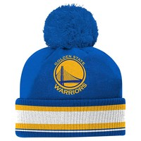 adidas Golden State Warriors Cuffed Knit Cap - Youth, Size: One Size (Blue)