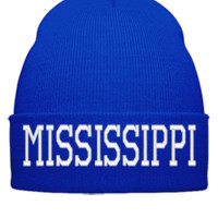 MISSISSIPPI EMBROIDERY HAT - Beanie Cuffed Knit Cap
