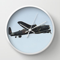 Lancaster Bomber Wall Clock by Karl Wilson Photography