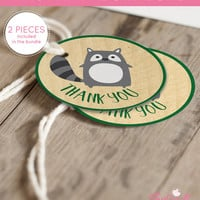 Printable Woodland Baby Shower Favor Tags Thank You Tag for Woodland Baby Shower - Printable Instant Download