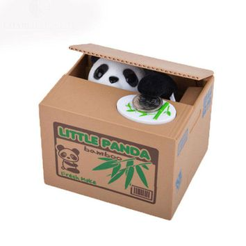 Actionclub Adorable Mischief Saving Box Cartoon Piggy Bank For Children Gift Panda Steal Coin Bank Money Storage Box