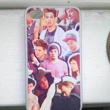 louis tomlinson collage iphone 4 case by tropicoolvibes on Etsy