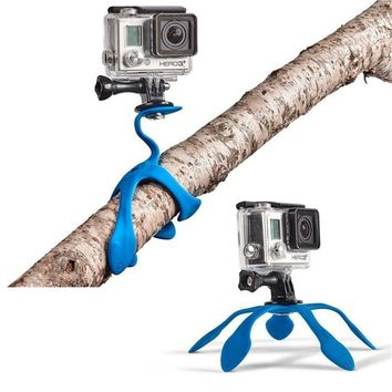 FGHGF Mini Portable Flexible Sponge Octopus Tripod Bracket Stand Mount Monopod + Phone Holder For Gopro Camera DSLR Mount