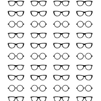 Glasses - Hipster Optometrist Appointment Health - Planner Stickers (F0043)