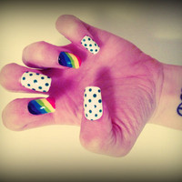 Set of Artificial Nails - Follow the Rainbow