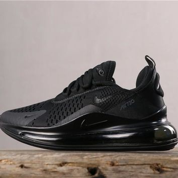 Newest Nike Air Max 720 Triple Black Running Shoes - Best Online Sale