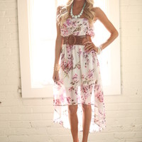 Spring Floral High Low Dress