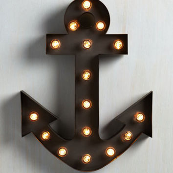 Nautical Oh, The Places You'll Glow Lamp by ModCloth