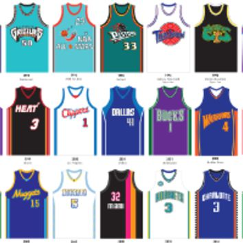 A Visual Compendium of Basketball Jerseys