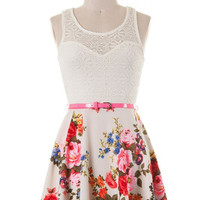 Finest Floral Dress - White