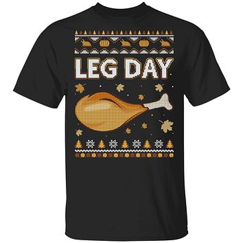 Leg Day Ugly Christmas Sweater Funny Thanksgiving