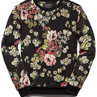 Abstract Floral Sweatshirt