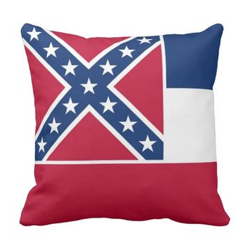 Mississippi State Flag American MoJo Pillow