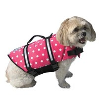 Paws Aboard Doggy Life Jacket in Pink Polka Dot
