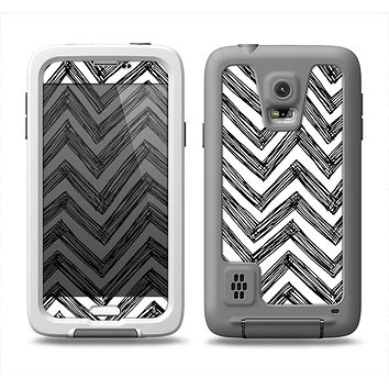 The Sketch Black Chevron Samsung Galaxy S5 LifeProof Fre Case Skin Set