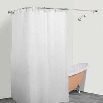 Rustproof L Shaped Corner Shower Curtain Rod