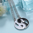 Friendship Necklace, Couples Necklace, Yin Yang, Bff, for 2, White Black, Man, Woman, Soul Mate, Gift, Present, Birthday