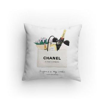 Shopping Bag illustration Decorative Pillows
