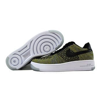 Nike Air Force I 1 Flyknit Low Black/Black-Blue Tint-Game Royal Warriors 820256-004