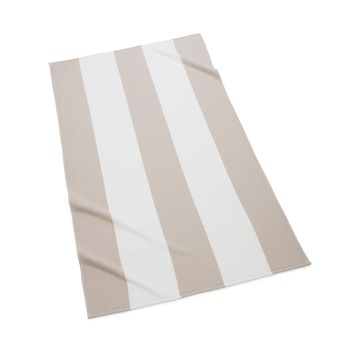 Sardinia Striped Beach Towel | Sand
