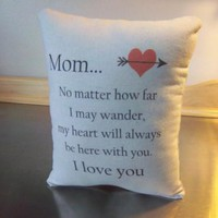 Mom pillow mother gift throw pillow love quote home decor