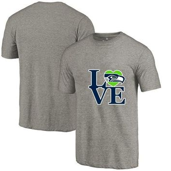 New Designs Seattle Leisure Fashion O-neck T Shirts, Seahawks Fans LOVE Logo Picture Printing Style High Quality Men's T-Shirts