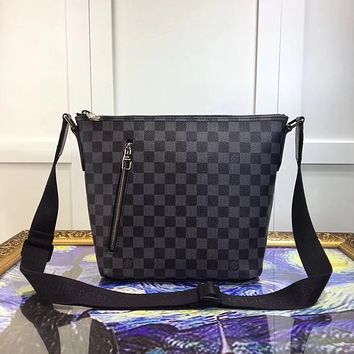 LV Louis Vuitton DAMIER GRAPHITE CANVAS MICK SHOULDER BAG