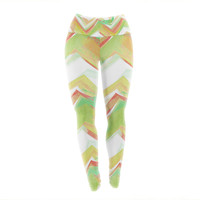 "Alison Coxon ""Summer Party Chevron"" Yoga Leggings"