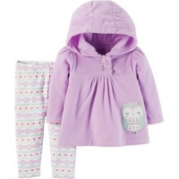 Child of Mine by Carter's Baby Girl Hoodie and Pants, 2pc Outfit Set - Walmart.com