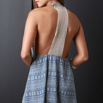Crochet Racerback Shift Dress