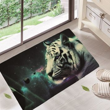 Autumn Fall welcome door mat doormat Durable Entrance s Funny Lovely Cartoon Tiger Pattern Rugs Light Thin Flannel Waterproof Kitchen Bedroom Carpet dd18 AT_76_7