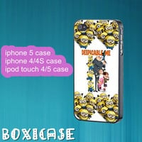 Despicable Me Minion---iphone 4 case,iphone 5 case,ipod touch 4 case,ipod touch 5 case,in plastic,silicone and  black , white.
