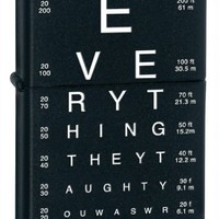 Zippo Eye Chart Pocket Lighter