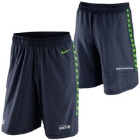 Mens Nike College Navy Seattle Seahawks Speed Vent Performance Shorts