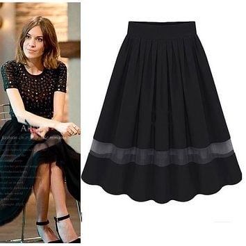 Hot Stylish Sexy Womens Retro Organza Bubble Skirt High Waist Pleated Tutu Knee Length Shirt X09