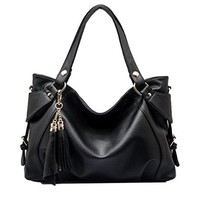 Partiss Women's PU Tassel Handbag