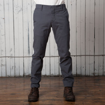 The Slim Casual Trouser   Grey Twill