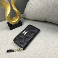 Women Leather Zipper Wallet Purse