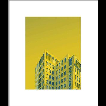 Urban Architecture   Canary Wharf, London  United Kingdom 4a - Framed Print