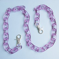 Fuchsia Crystal Clear Chain Belt