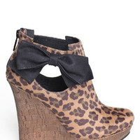 Chaz Leopard Wedge Bootie - $79 : ThreadSence.com, Your Spot For Indie Clothing  Indie Urban Culture